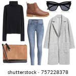 a set of fashionable clothes... | Shutterstock . vector #757228378