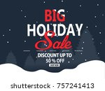 winter holiday  sale | Shutterstock .eps vector #757241413