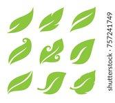 leaves icon set | Shutterstock .eps vector #757241749