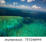 aerial view of moore reef on... | Shutterstock . vector #757248994