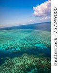 aerial view of moore reef on... | Shutterstock . vector #757249000
