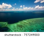 aerial view of moore reef on... | Shutterstock . vector #757249003
