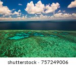 aerial view of moore reef on... | Shutterstock . vector #757249006