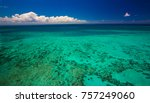 aerial view of moore reef on... | Shutterstock . vector #757249060