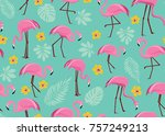 vector seamless pattern with... | Shutterstock .eps vector #757249213