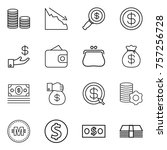 thin line icon set   coin stack ...   Shutterstock .eps vector #757256728