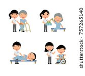 medical rehabilitation... | Shutterstock .eps vector #757265140