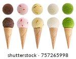 Stock photo ice cream isolated on white background 757265998