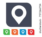 location pin icon | Shutterstock .eps vector #757266754