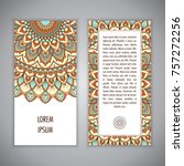 greeting card or invitation...   Shutterstock .eps vector #757272256