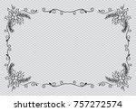 floral frame christmas... | Shutterstock .eps vector #757272574