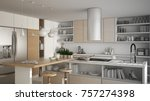 unfinished project of modern... | Shutterstock . vector #757274398