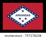 flag of arkansas on a black... | Shutterstock .eps vector #757278238