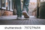feet walking street   Shutterstock . vector #757279654