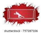 Goalkeeper Jumping Action ...