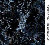 imprints dry leaves seamless... | Shutterstock . vector #757293658