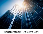 bottom view of modern... | Shutterstock . vector #757295224