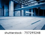 modern office building outdoors ... | Shutterstock . vector #757295248
