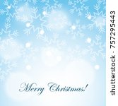 merry christmas snow snowflake... | Shutterstock .eps vector #757295443