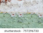 abstract multicolor grunge... | Shutterstock . vector #757296733