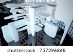 abstract dynamic interior with... | Shutterstock . vector #757296868