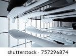 abstract dynamic interior with... | Shutterstock . vector #757296874