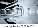 abstract dynamic interior with... | Shutterstock . vector #757296898