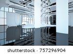 abstract dynamic interior with... | Shutterstock . vector #757296904