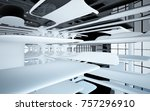 abstract dynamic interior with... | Shutterstock . vector #757296910
