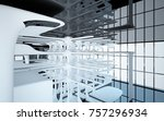 abstract dynamic interior with... | Shutterstock . vector #757296934