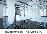 abstract dynamic interior with... | Shutterstock . vector #757296940