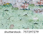 abstract multicolor grunge... | Shutterstock . vector #757297279