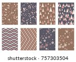 winter poster backgrounds with...   Shutterstock .eps vector #757303504