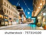 helsinki  finland   december 6  ... | Shutterstock . vector #757314100