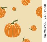 editable thanksgiving day...   Shutterstock .eps vector #757314808
