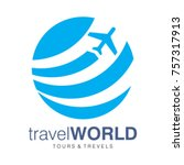 tour and travel logo  tour and... | Shutterstock .eps vector #757317913