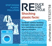 stop plastic pollution reduce ... | Shutterstock .eps vector #757325758