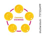 coins world currency exchange.... | Shutterstock . vector #757326499