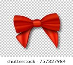illustration of red ribbon.... | Shutterstock . vector #757327984