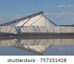 conveyor belt and salt pile... | Shutterstock . vector #757331428