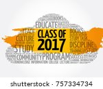 class of 2017 word cloud... | Shutterstock .eps vector #757334734