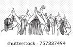 vector art drawing of concert...   Shutterstock .eps vector #757337494