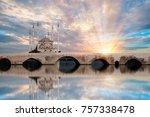 sabanci central mosque   adana... | Shutterstock . vector #757338478