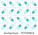 pharmaceutical background with... | Shutterstock . vector #757339813