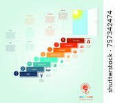 conceptual infographics steps... | Shutterstock .eps vector #757342474