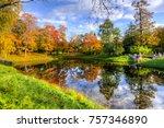 golden fall in russia | Shutterstock . vector #757346890