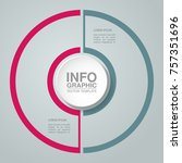 vector infographic template for ... | Shutterstock .eps vector #757351696