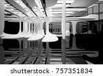 abstract dynamic interior with... | Shutterstock . vector #757351834