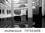 abstract dynamic interior with... | Shutterstock . vector #757351858