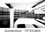 abstract dynamic interior with... | Shutterstock . vector #757351864